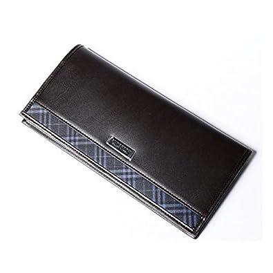 outlet store d179c 9ca34 バーバリー ブラックレーベル 財布 かぶせ長財布 牛革×ポリエステル BURBERRY BLACK LABEL