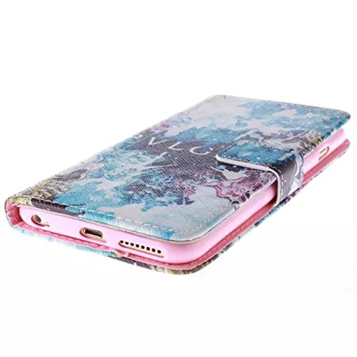 """iPhone 6s Plus Case, DRUnKQUEEn TM Wallet Case for iPhone 6 Plus / iPhone 6sPlus (5.5"""") Side Flip Wallet PU Leather Stand Case Cover with Magnetic Closure"""