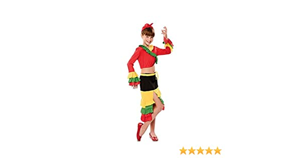 Disfraz de Rumbera Roja para niña: Amazon.es: Juguetes y juegos