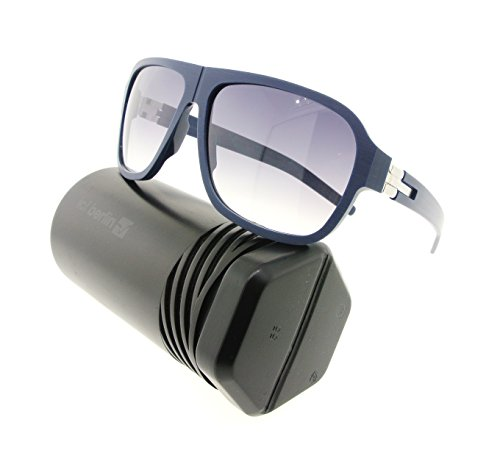 ic! berlin Sunglasses Power Law Blue Rough / Pearl Temple with Black Clear - Aviator Sunglasses With Power