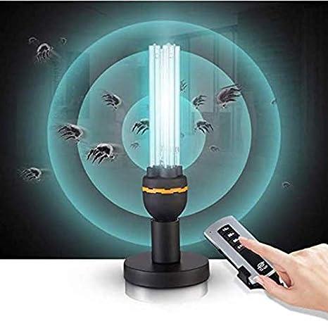 Ultraviolet Disinfection Lamp Purificador de Aire Generador de ozono Cuarzo UV Germicida Compacto Lámpara CFL Limpia y desinfecta por Eliminar y Matar ácaros de Virus bacterianos: Amazon.es: Deportes y aire libre