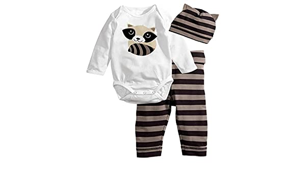 Amazon.com: Chitop Baby Rompers Long Sleeve Cotton Baby Girl Clothes ...