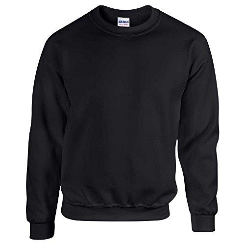 Black 50 Sweatshirt Plain Super Soft Crew 50 Gildan Neck Adult pqFFzw