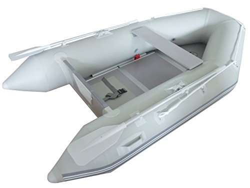 Tangkula New 1.2mm PVC 9' Inflatable Boat Tender Raft Dinghy With Floor - Dinghy Inflatable