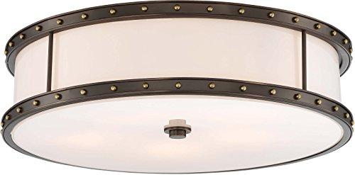 - Minka Lavery Flush Mount Ceiling Light 1827-103 Low Profile Fixture, 5-Light 300 Watts, Harvard Court Bronze
