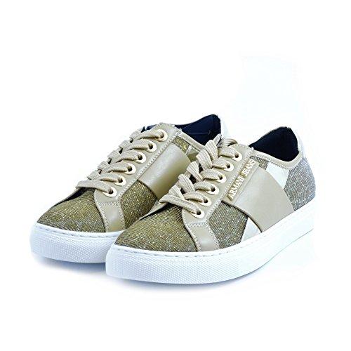 AJ Armani Jeans 925207 Sneakers Damen Gewebe Beige
