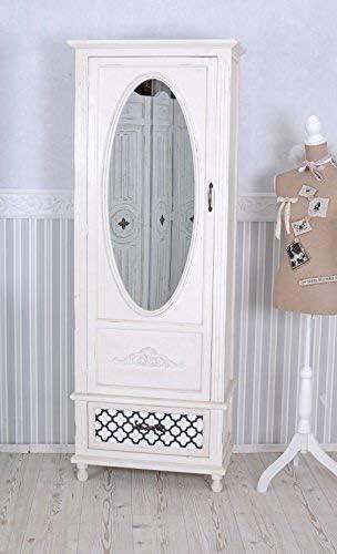 Vintage Schrank Shabby Chic Kleiderschrank Weiss Wäscheschrank Spiegel Palazzo Exclusiv