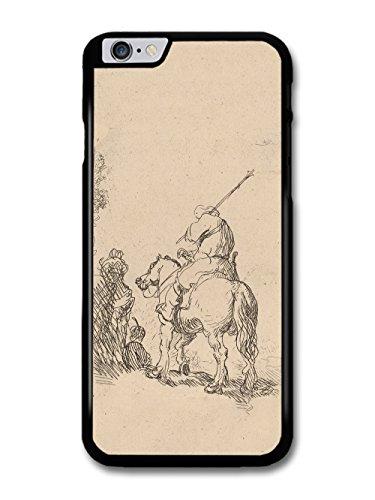 Rembrandt Van Rijn Turbaned Soldier on Horseback Artist Art Vintage case for iPhone 6 Plus 6S Plus