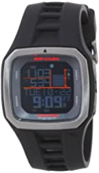 """Rip Curl Men's A1100 - BLK Mick """"Fanning Trestles Pro"""" Surf Watch with Black Band"""