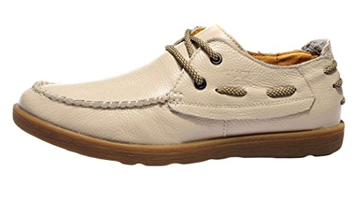 Guciheaven Mens 2015 New British Style Round-toe Low Top Lace-up Casual Flats Shoes(9.5 D(M)US, Beige)