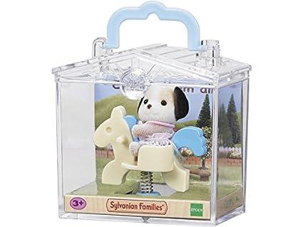 Sylvanian Families 3340 Bebé para Llevar con maleta de metacrilato con asa, modelos surtidos,