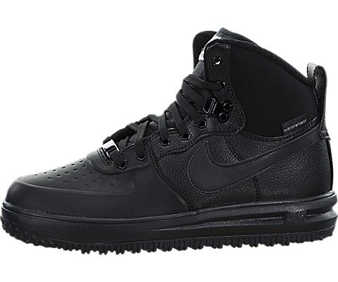 Nike Lunar Force 1 SneakerBoots (Kids) Black/Metallic Silver ()