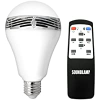 SOUNDLAMP Dimmable Cool White LED Bulb w 7W and up to 650 Lumens, Built in 2.5 A2DP Bluetooth Speaker with 3W Power (1)