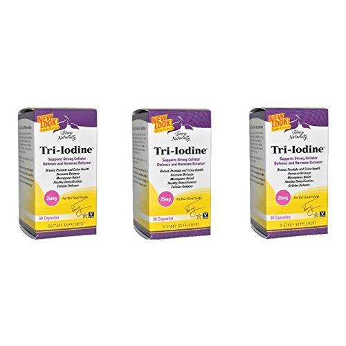 EuroPharma Terry Naturally Tri-Iodine 25 mg - 30 Capsules -3 Pack