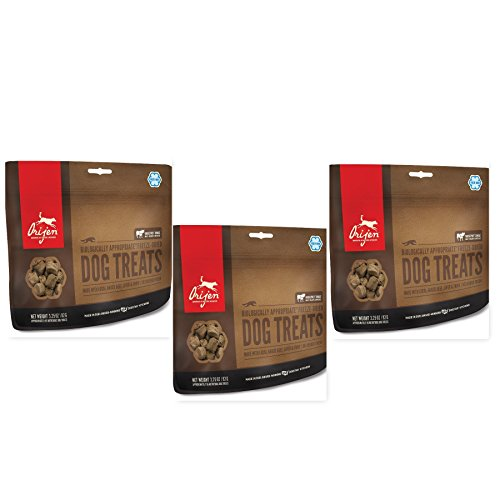 Orijen Angus Beef Freeze Dried Dog Treats, 3.25 oz.ea.(3 Pack) Fast Delivery by Just Jak's Pet Market