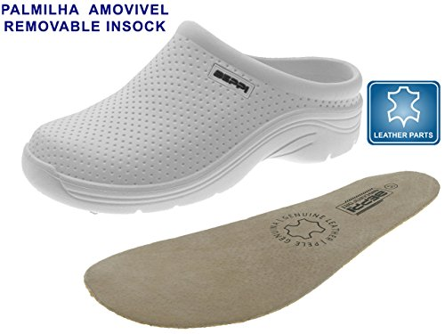 amp; Medical Clog Warehouse Office Eva Men For Professionals Suitable Lightweight Leather Insole Use Women Breathable 0Fx4aqvp