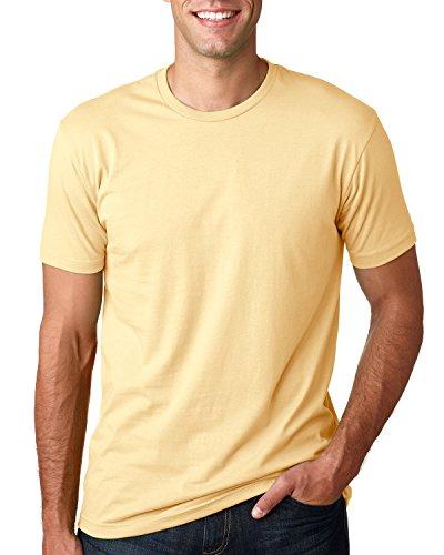 Next Level Premium Fit Extreme Soft Rib Knit Jersey T-Shirt, Banana Cream, XS (Banana Jersey)
