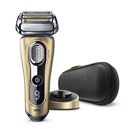 Braun Series 9 9299S Wet and Dry Electric Shaver with Charging Stand (Gold)