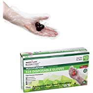 Disposable Food Handling Long Cuff Poly Gloves - One Size Fits Most, 525 per box (1 box)