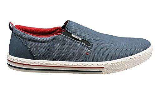 Rieker 19555-14 - Mocasines para hombre Azul denim/denim 40 Azul - Jeans