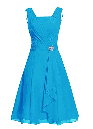 M290LF Women's Bridesmaid Party Blue Dress MaliaDress Square Chiffon Dress 0xw6P16