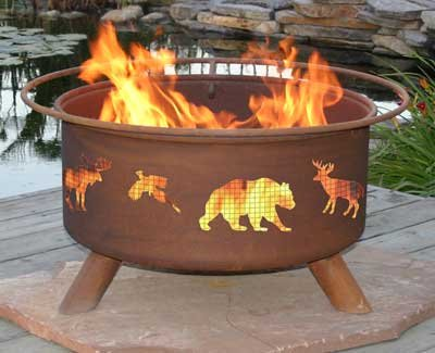 Patina Products F106 Wildlife Fire Pit