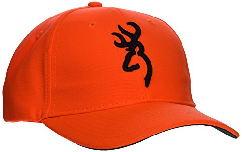 Browning Safety Cap with 3D Blaze, Semi-Fitted (Orange Fitted Cap)