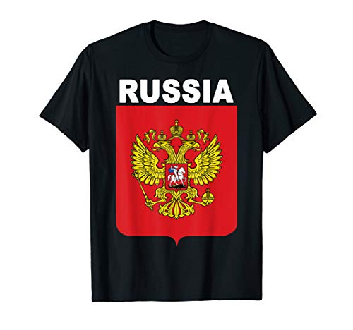 National Coat of Arms Emblem of Russia T-Shirt ()