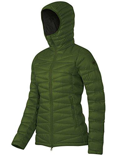 Mammut plumífero para mujer Miva IS con capucha verde hierba
