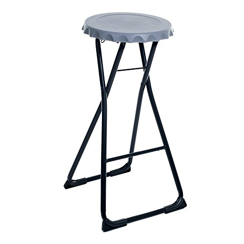 Stalwart Folding Bottle Cap Stool for Tailgate Parties, Large
