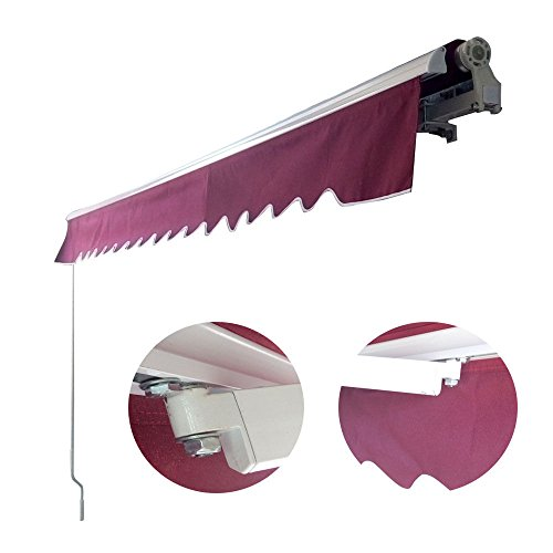 Eight24hours Manual Patio 10'x 8' Retractable Deck Awning Sunshade Shelter Canopy Outdoor DIY (Motorized Sun Shade compare prices)
