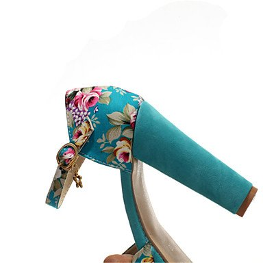 LvYuan Mujer-Tacón Robusto-Otro-Sandalias-Informal Vestido-Tejido Materiales Personalizados-Azul Rojo Blanco White