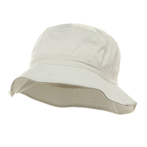 Pigment Dyed Bucket Hat-White W12S43E - Size: ()