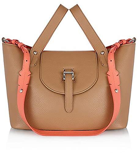 r Block Small Tan Leather Satchel Ladies Bag ()