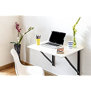 INVISIBLE BED Folding Wall Mounted Study/Computer/Laptop/Office Table(Glossy White) – 100% Made in India – Exclusively…