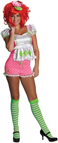 Secret Wishes Strawberry Shortcake Costume and Accessories, Pink/White, Large -