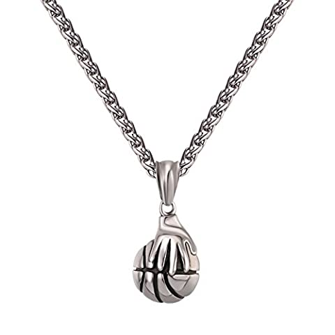 Basketball Necklace Stainless Steel Chain 22