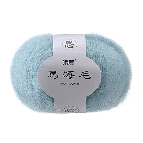 Gotian Hand-Woven Soft Mohair Knitting Wool Yarnn, DIY Shawl Scarf Crochet Thread Supplies Warm Soft Natural Hat Baby Crochet Knitwear Household Hand Knitting (H)