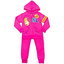 The DivaCup Diva Girls & Toddlers Printed Fleece Clothing Sets With Pants & Zipper Hoodie