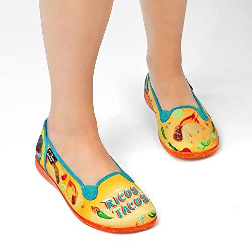 Hot Chocolate Design Chocolaticas Womens Slip-On Fashion Sneaker Flat Tacos eCYhu4XKcY