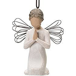 Willow Tree hand-painted sculpted Ornament, Angel of Prayer
