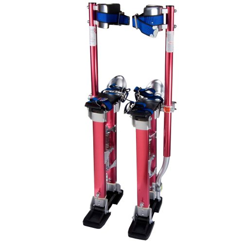 "24"" to 40"" Aluminum Adjustable Drywall Painting Stilts in Red"
