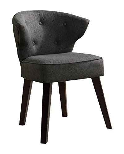 "Kings Brand Furniture Casual Accent Chair, Grey/Dark Cherry - Kings Brand Grey With Dark Cherry Legs Accent Casual Accent Chair Grey fabric, dark cherry finish wood legs Dimension: 19.75""W x 22.5""D x 32""H - living-room-furniture, living-room, accent-chairs - 41HDNanauJL -"