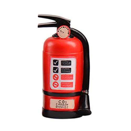 X Hot Popcorn Resin Red Extinguisher Piggy Bank Money Box Coin Money Bank Great Gift Idea for Children or Adults/ Carnival Prize/ Party Favor for Girls and - Piggy Fire Bank Hydrant