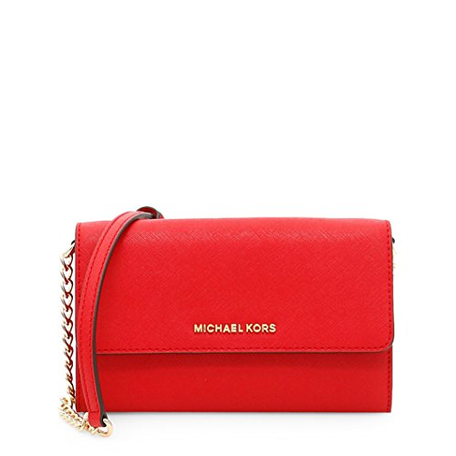 Michael Kors Women's Michael Kors Jet Set Travel Red Leather Pochette Red