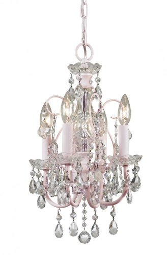 Crystorama 3224-BH-CL-MWP Crystal Accents Four Light Mini Chandelier from Imperial collection in Lightfinish, ()