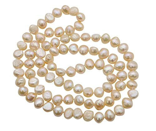 35 inches Pink Freshwater Cultured Nugget Pearl Pearl Necklace Jewelry for Women ()