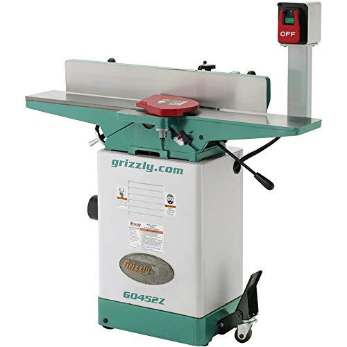 Grizzly G0452Z Jointer with Spiral Cutterhead, 6 x 46-Inch