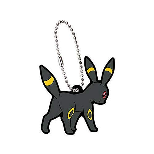 Bandai Pokemon Eevee Evolution Umbreon Character Gacha Capsule Rubber Key Chain Mascot Collection Anime Art