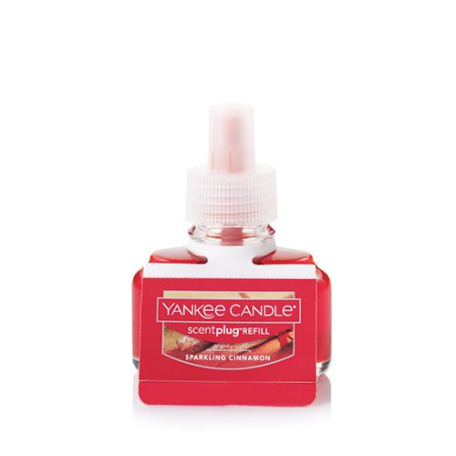Yankee Candle Sparkling Cinnamon Scent-Plug Air Freshener Refill, Festive Scent ()